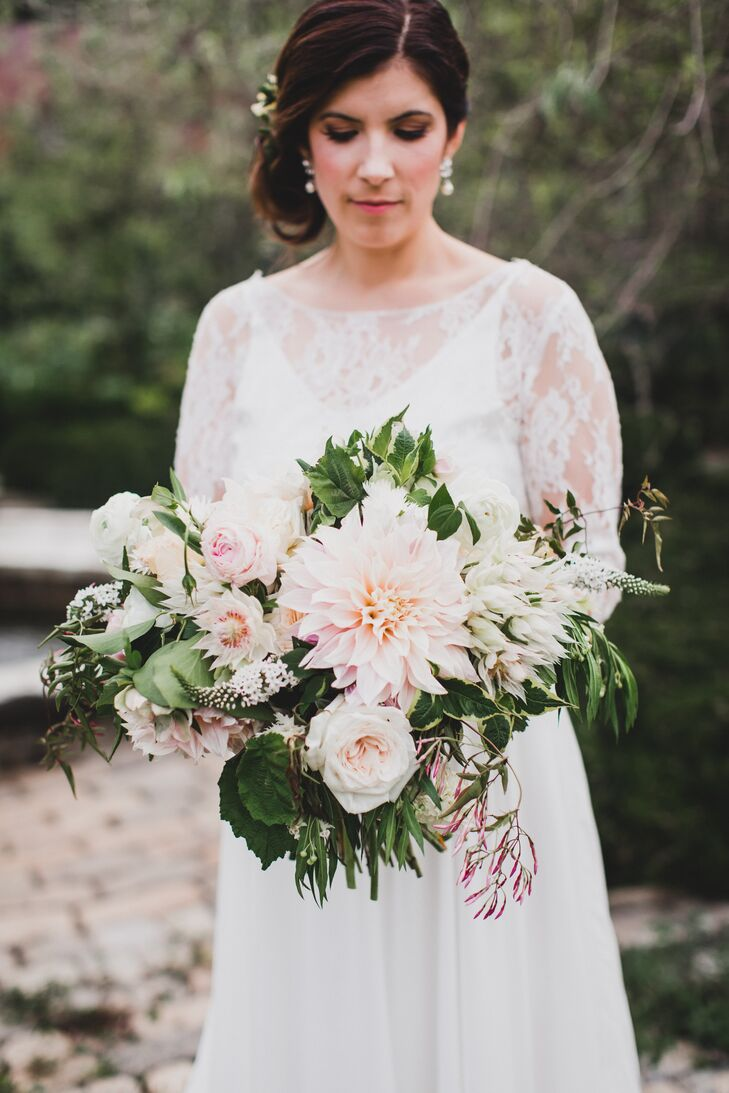 Blush Bouquet with Dahlias and Greenery