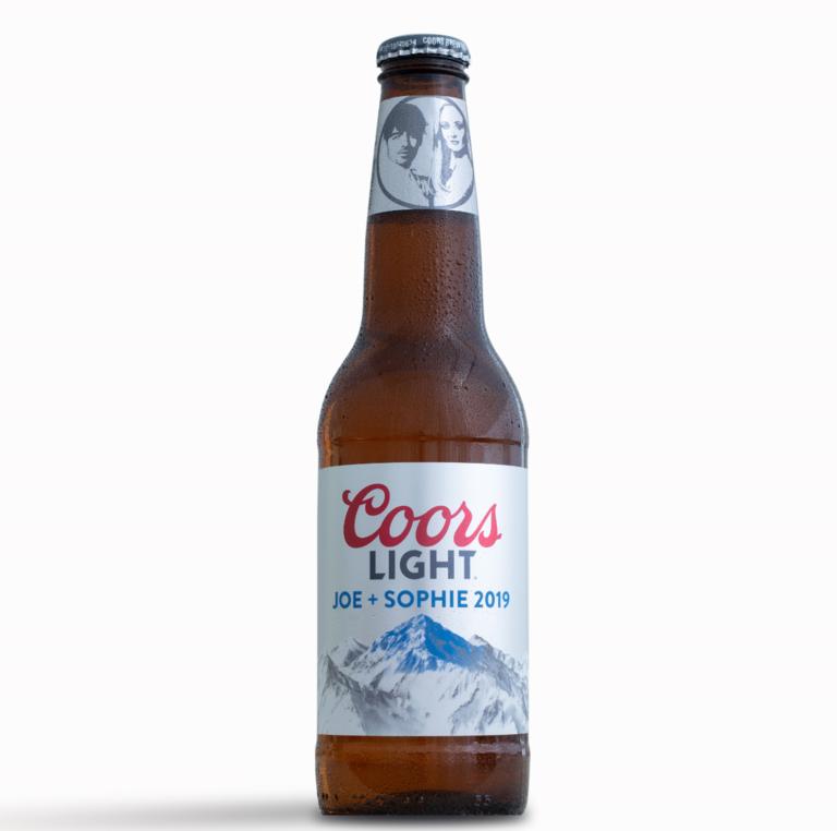joe jonas sophie turner wedding beer