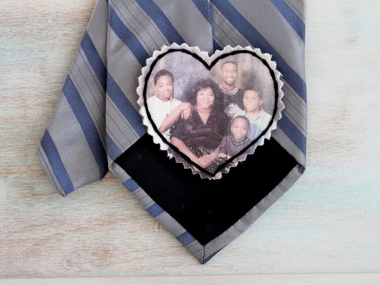 Photo tie patch gift idea