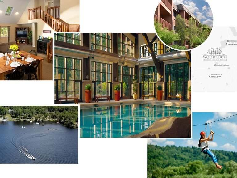 photo collage of Woodloch Pines in Hawley, Pennsylvania