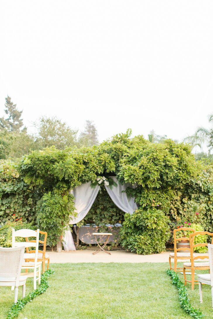 Ceremony Space with Ample Greenery at Villa Riposo in Morgan Hill, California