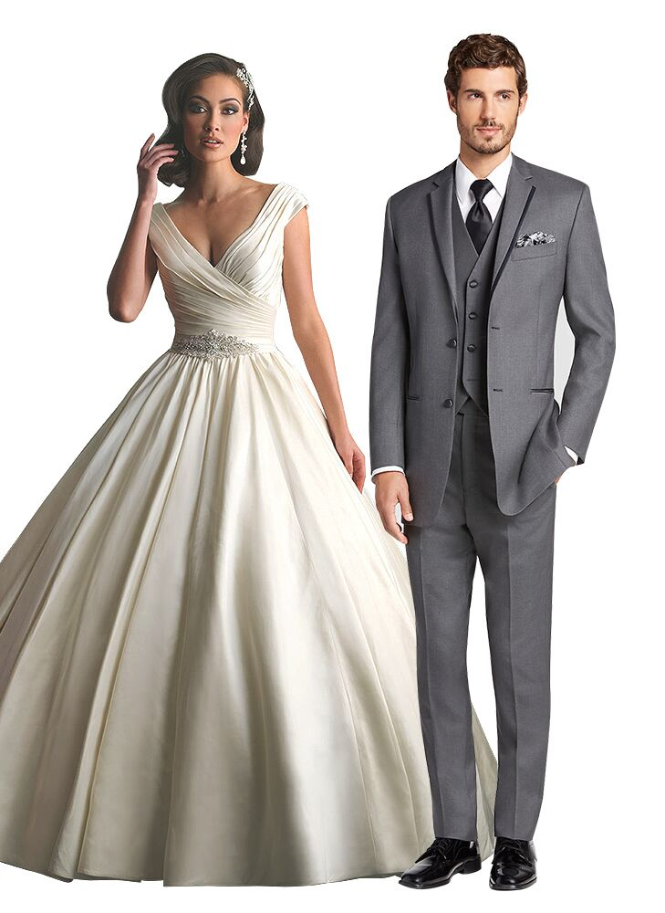 Royal Wedding Dress And Tuxedo