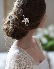 Dareth Colburn Cora Floral Hair Pin (TP-2817) Silver Pins, Combs + Clip
