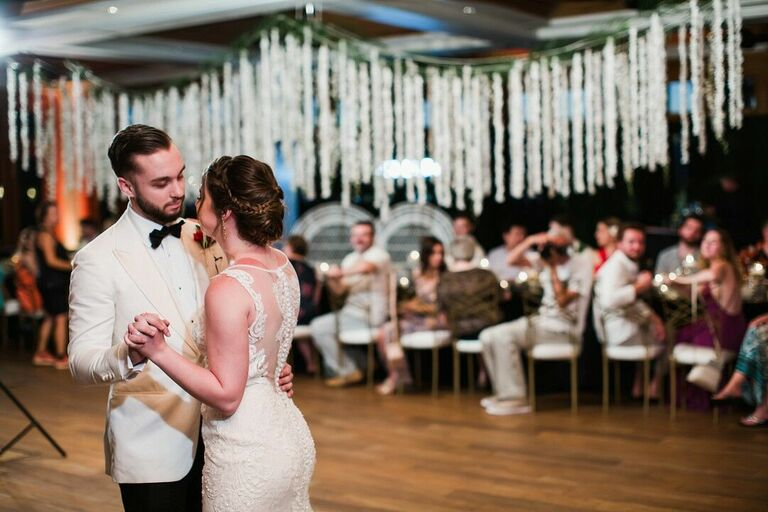Wedding updo bun with braid