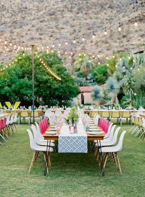 Reception Tables at Colony 29 in Palm Springs, California