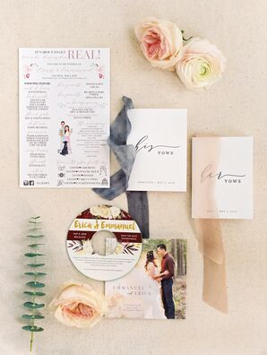 Romantic Wedding Programs and Vow Books