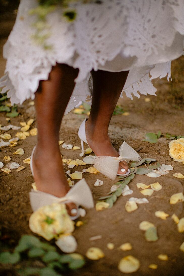 Bridal Heels for Outdoor Wedding at Prospect Park in Brooklyn
