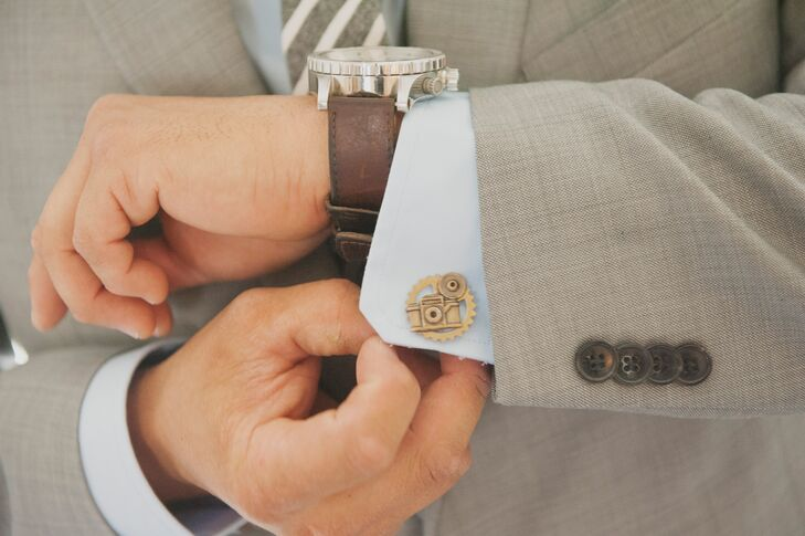 Old-Fashioned Camera Cuff Links