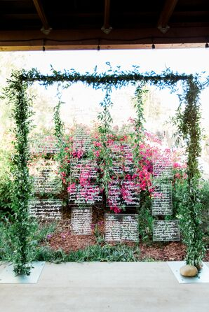 Vine-Framed Acrylic Seating Chart