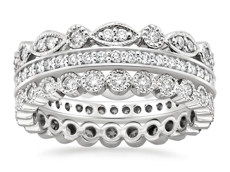 Brilliant Earth luxe antique eternity diamond ring stack  sc 1 st  The Knot & 20 Year Anniversary Gift Ideas