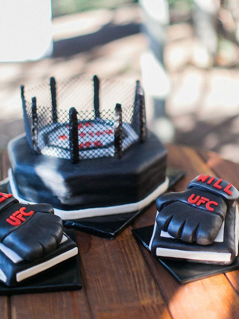 Creative UFC groom's cake idea