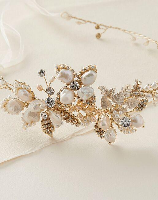 Dareth Colburn Leona Bridal Hair Vine (TI-3359-G) Gold, Ivory, Pink Headband