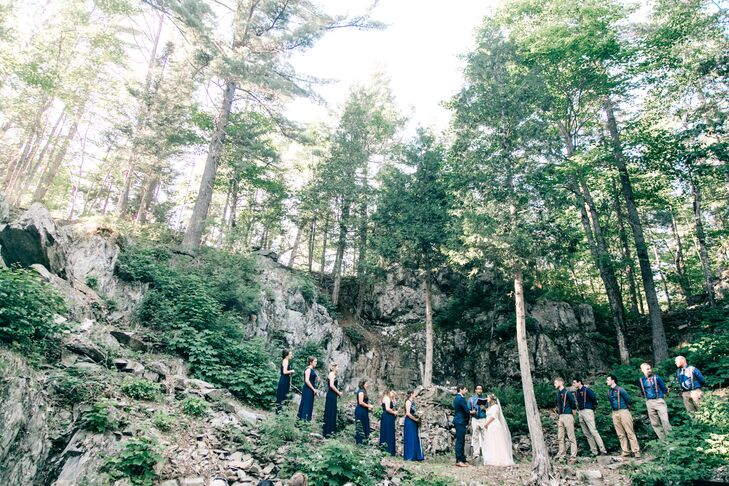 Intimate Woodland Wedding Ceremony