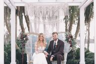 """""""We wanted to play up the outdoor space and have a very natural, bohemian feel to our wedding,"""" Kendall Kohl (25 and a sales representative ) says of"""