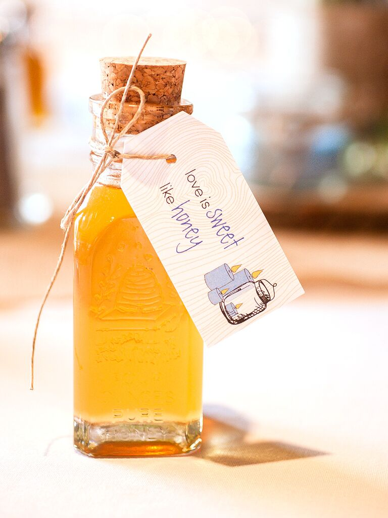 honey wedding favor funny thank you tag