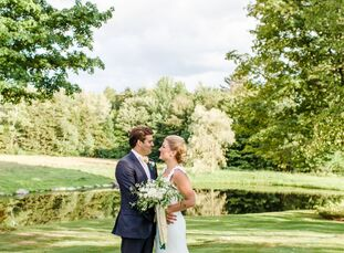 Holly Donaldson (27 and a development officer) and Adam Casella (28 and an MBA candidate) met through mutual friends. Inspired by the natural beauty