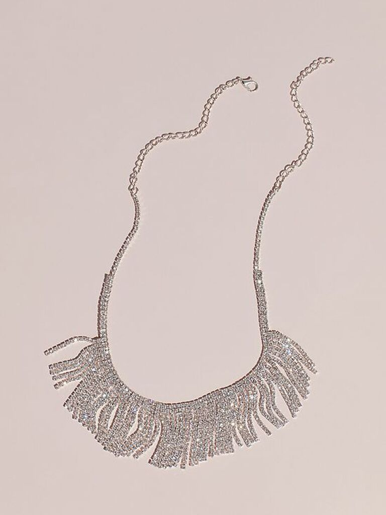1920s fringe bridal statement necklace
