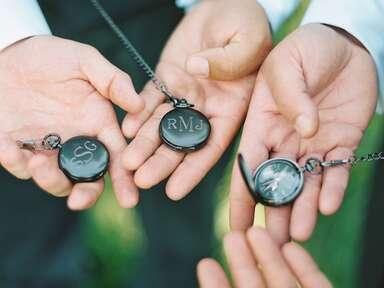 Custom pocket watch groomsmen proposal gifts