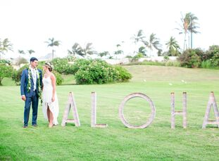 When Ashlee Domann (31 and in finance) and Bryan Wheeler (39 and a hot rod builder) opted for a Hawaiian wedding, one thing became more important to t