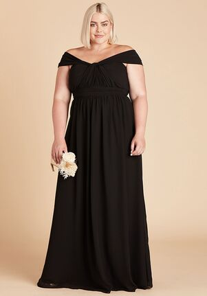 Birdy Grey Grace Convertible Dress Curve in Black Strapless Bridesmaid Dress