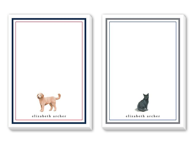 Dog and cat custom notepads gift for sister-in-law