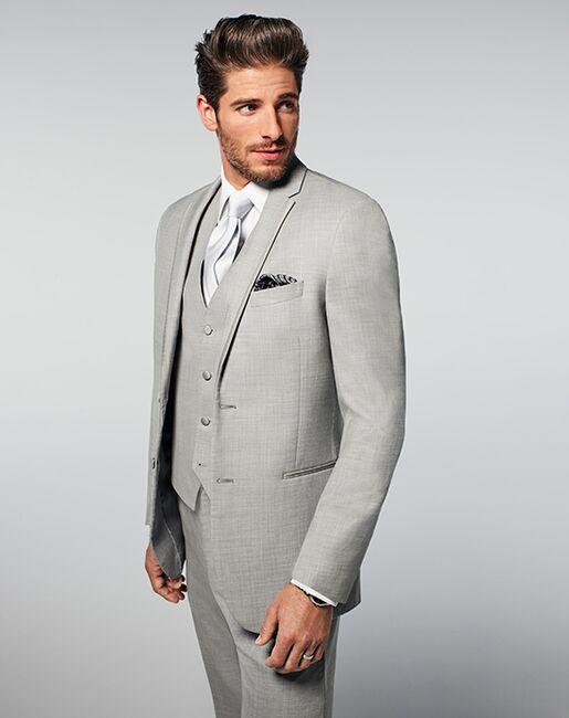 e9ae2595548b Mens Wearhouse Joseph Abboud Light Gray Satin Edged Notch Lapel Gray Tuxedo