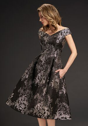 Jasmine Black Label Mother of the Bride M190065 Black Mother Of The Bride Dress
