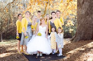 Mixed Gray Bridesmaid Dresses