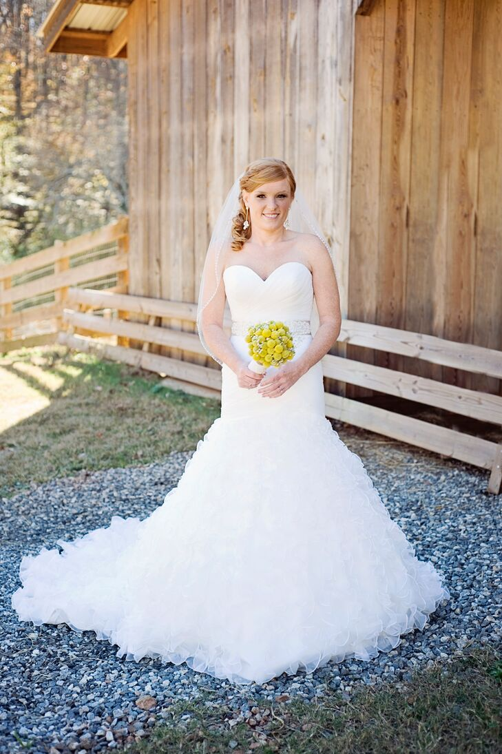 Strapless Wedding Dress with Textured Skirt