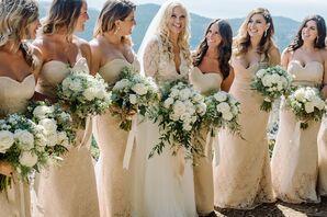 Elegant Champagne Gold Bridesmaid Dresses