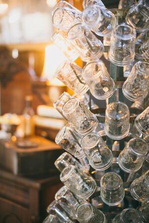 Mason Jar Wedding Reception Glassware