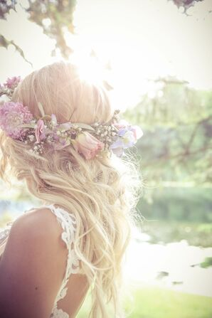 Rose and Baby's Breath Flower Crown