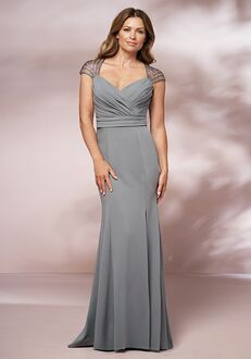 Jade Mother of the Bride by Jasmine J205006 Silver Mother Of The Bride Dress