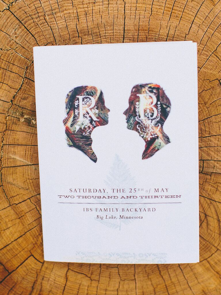 Illustrated ceremony program