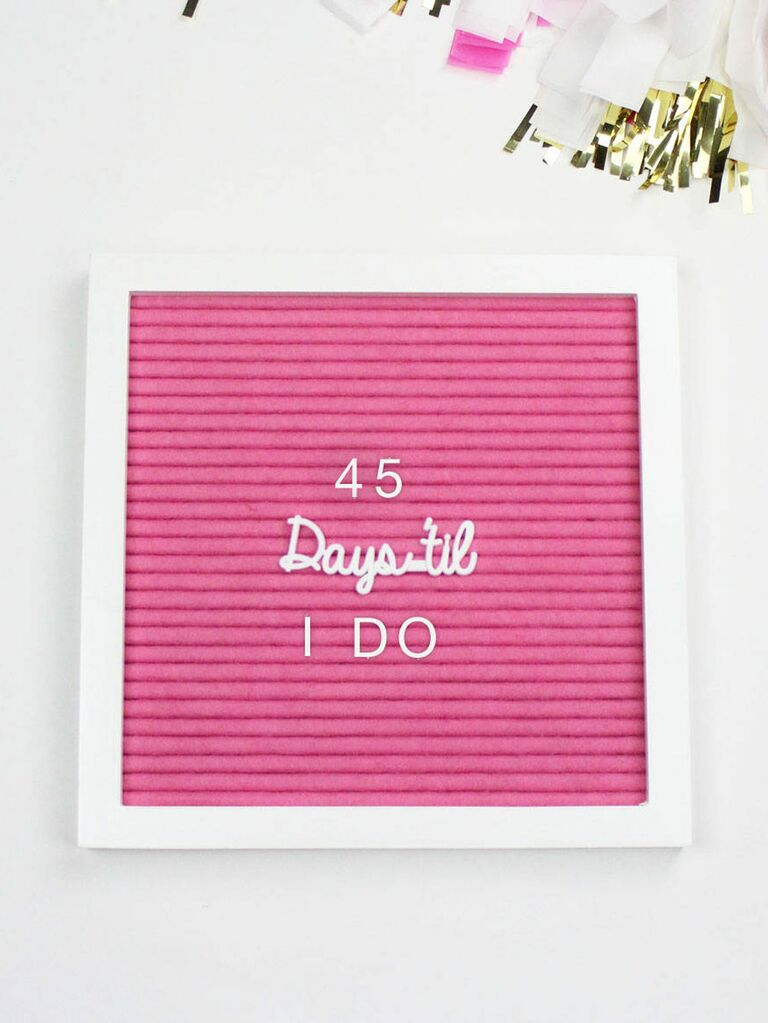 Wedding Letterboard Gift For Engaged Friend
