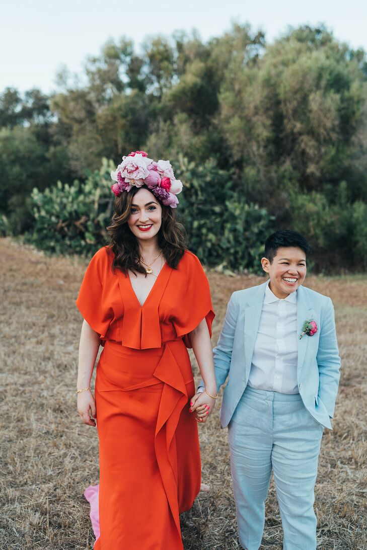 """""""We had no official theme but after a rocky, 18-month start (this was the first same-sex, mixed-race, British-Chinese wedding either of us had ever se"""
