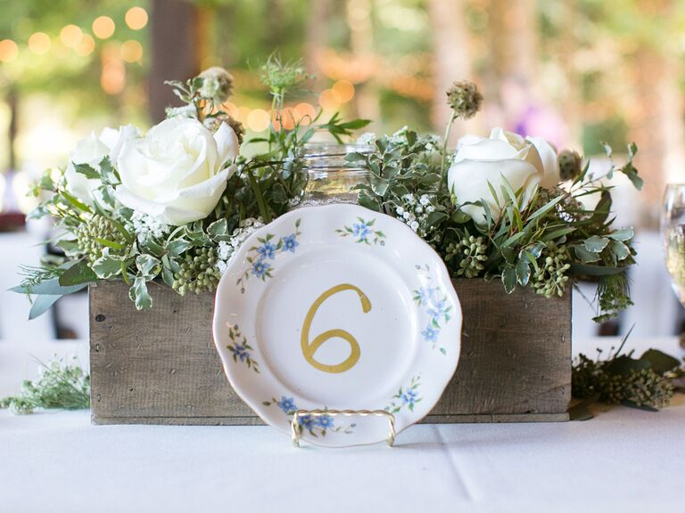 China plate wedding table number