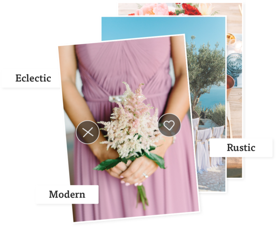 define your wedding style on the knot website