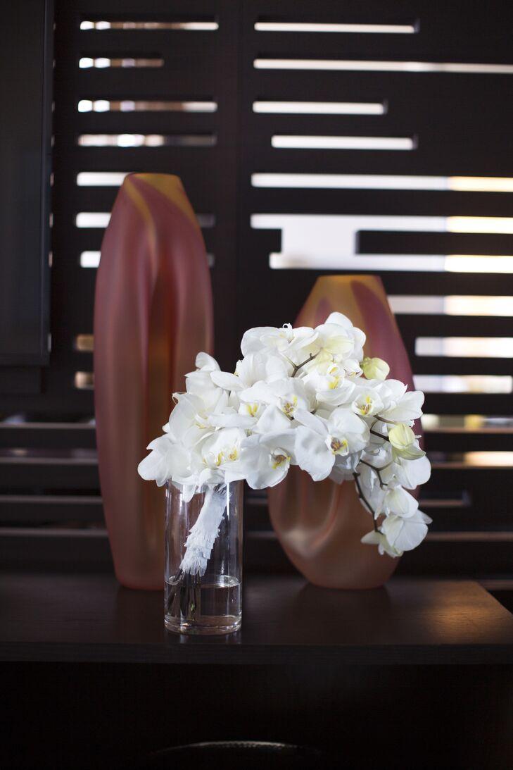 Architectural White Orchid Bouquet