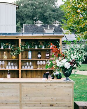 Elegant Bar With Wood Shelving at Santa Lucia Preserve in Carmel, California