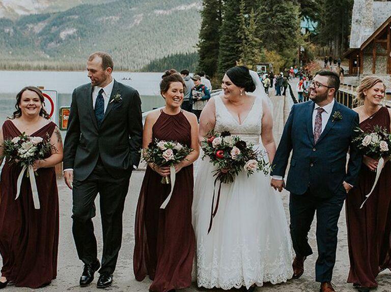 Bridesmaid updo bun
