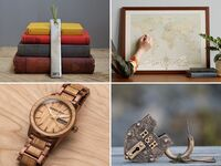 Collage of four 6th wedding anniversary gift ideas