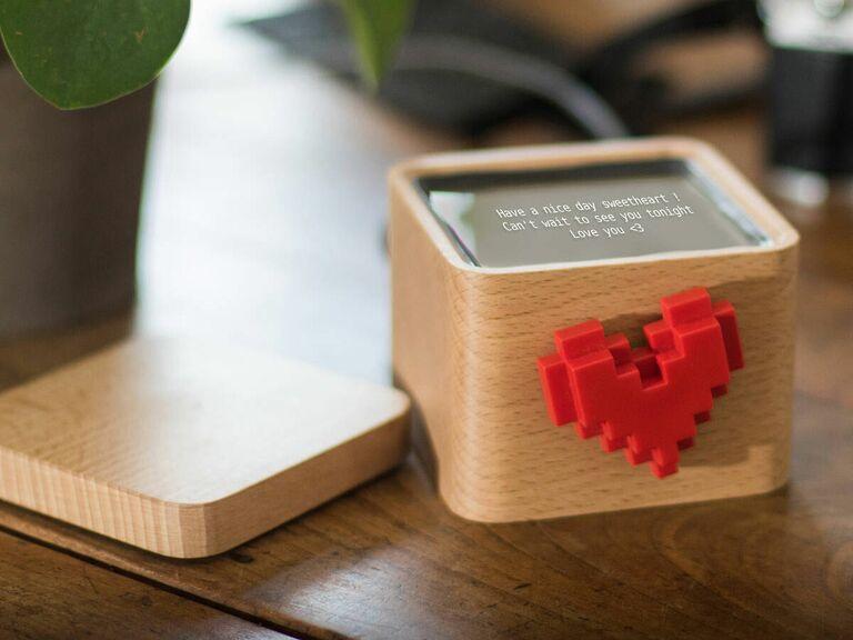 Lovebox heart messenger gift for Valentine's Day
