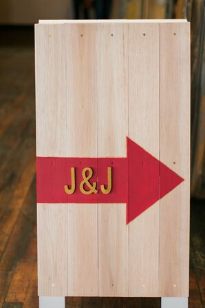 Custom Wood Monogram Ceremony Sign