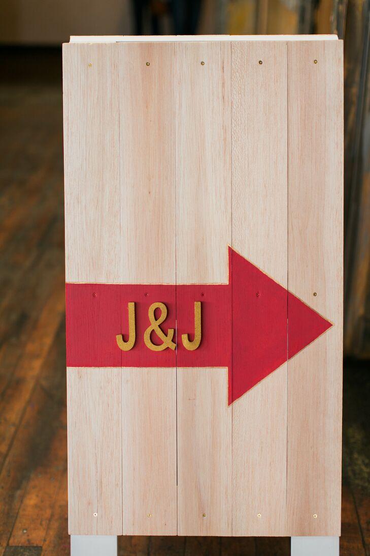 Custom Wood Monogram Ceremony Sign