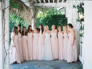 Romantic Blush Bridesmaid Dresses