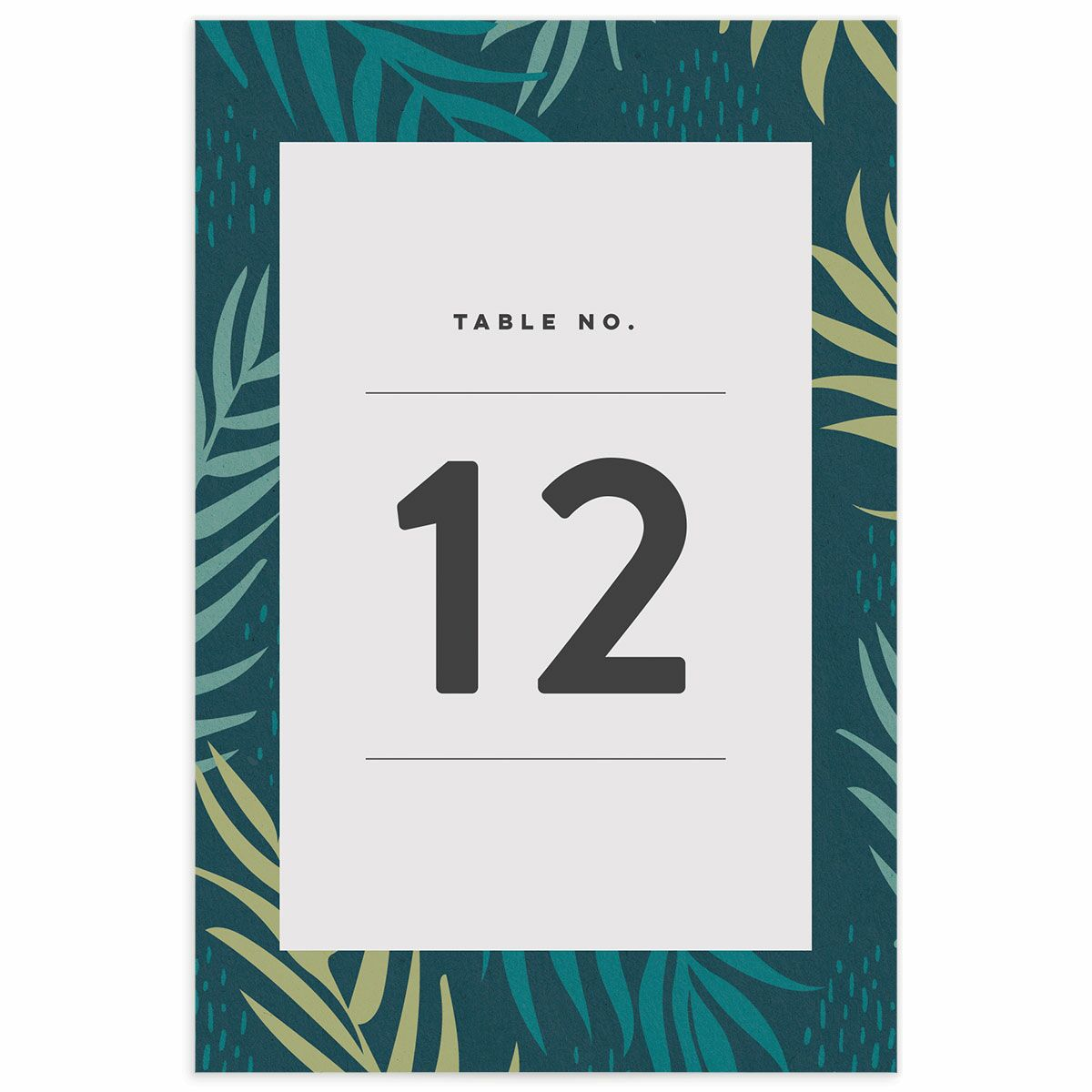 A Wedding Table Number from the Modern Palm Collection