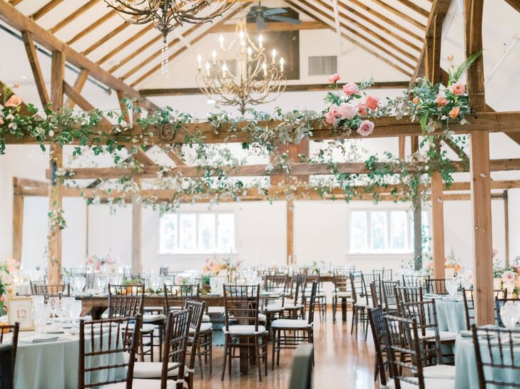 Romantic Barn Wedding Reception in Pennsylvania
