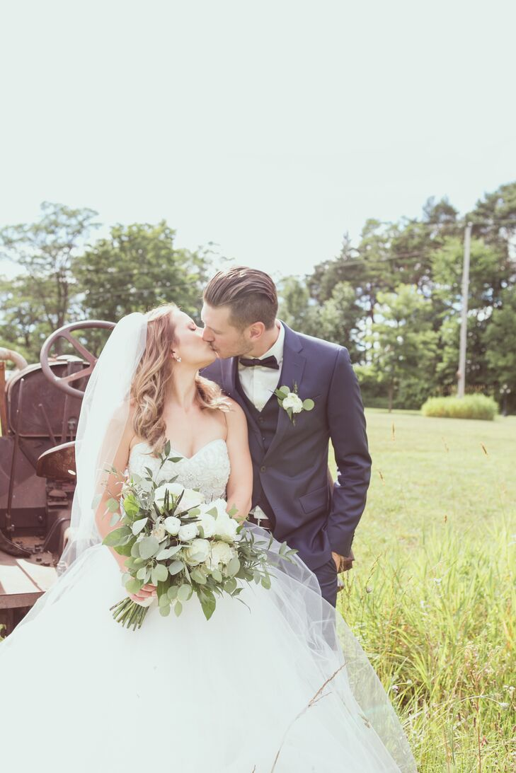 """Kelly-Ann and Michael met one snowy night at a nightclub in Barrie, Ontario. """"My mouth dropped open when I saw him,"""" Kelly-Ann says. A few weeks later the couple went to Dave and Buster's, and they've been together ever since."""