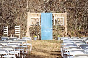 Antique Window Ceremony Backdrop